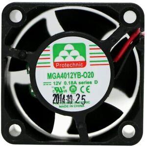40mm x 20mm Fan (MGA4012YB-O20 D)  12 V,11.54CFM,9000 RPM,2pin bear wire