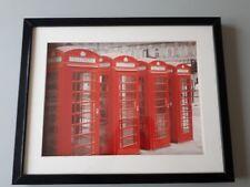 affiche encadrée : les téléphones de Londres