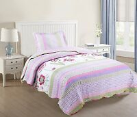 Kids Bedspread Quilts Set Throw Blanket for Teens Boys Girls Bedding Twin, A14