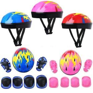 7Pcs/Set Boy&Girls Kids Skate Cycling Bike Safety Helmet Knee Elbow Pad Set Gift