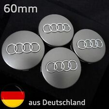 Nabendeckel Felgendeckel für Audi 60mm Grau Emblem Motorsport Nabenkappen
