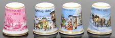 KAISER Christmas Thimbles 1979 - 1982 lot of 4 Xmas Tree Snowflake W Germany