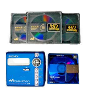 Sony MZ-N707 MiniDisc Portable Net MD Walkman Player Recorder Type-R & Discs
