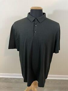 Mens Lululemon Evolution Polo Shirt Black Size XL