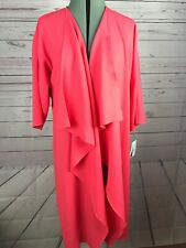 NWT Lularoe Shirley Sz Med Salmon Coral Kimono Duster Waterfall Open Front