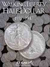 Walking Liberty Half Dollar Coin Folder Album #2, 1937-1947 by H.E. Harris