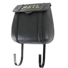 Cast Iron Wall Mount Saddle Bag Hanging Porch Mail Box - Metal US Postal Mailbox