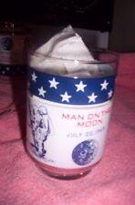 Vintage Apollo 11 Neil Armstrong 1969 Man On The Moon Glass RARE