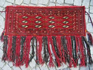 Fabulous Antique Collector's Item Tribal Bokhara Rolling Pin Bag Torba  Rug