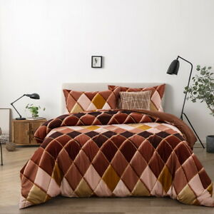 3Piece Duvet Cover Set for Comforter Twin Full Queen King Size 1 Pair Pillowcase