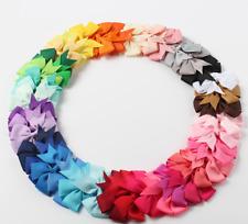 Hair Clip Alligator Baby Toddler Girl Kids Grosgrain Ribbon Bow - New 40 colours