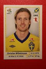 Panini EURO 2012 N. 446 SVERIGE WILHELMSSON  NEW With BLACK BACK TOPMINT!!