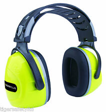 Delta Plus Venitex Interlagos Hi Viz Yellow SNR 33 Ear Defenders Ear Protectors