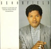 """BROOMFIELD don't cover up your feelings 651629 6 uk cbs 1988 12"""" PS EX/EX"""