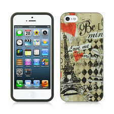 For Apple iPhone 5 5S SE TPU CANDY Gel Flexi Skin Case Phone Cover Paris Amour