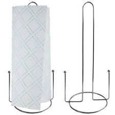 New Chrome Kitchen Paper Towel Roll Holder Rack Stand Dispenser - Silver