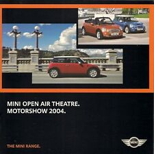 Mini Hatchback Convertible 2004 UK Motorshow Brochure One One D Cooper Cooper S