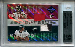 2004 Limited Common Threads DONOVAN MCNABB MICHAEL VICK Jersey #7 /10 Dual Patch
