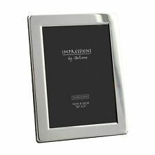 """Silver Plated Flat Edge Photo Frame Gift 3.5 X 5"""" By Impressions"""