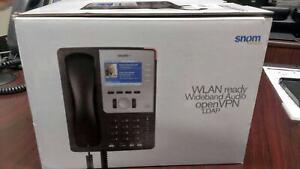 SNOM 821 VoIP Wireless Phone 12-Line LCD Gigabit SIP & Microsoft OCS 2346 -NEW
