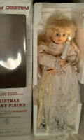 "Vintage Telco Motion-Ette Lighted Animated Christmas 24"" Blond Angel Porcelite"