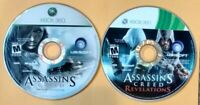 Assassin's Creed Xbox 360 Game Lot Of 2 (Original & Revelations) Discs Only