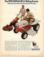 1970 Print Ad of Studebaker Gravely Model 424 Riding Tractor Mower