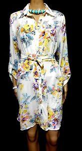 Boohoo Savannah Floral shirt dress, sz. 14, ***NWT