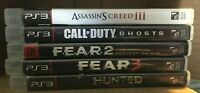 PS3 Playstation 3 ~ 5 Game Lot! COD F.E.A.R. x2 MORE See pics Free SHIPPING!!!!