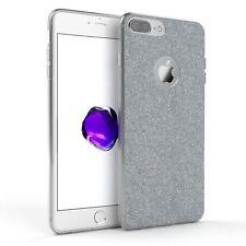 Schutz Hülle für Apple iPhone 8 / 7 Plus Glitzer Cover Handy Case Silber