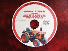 Kubota B Série Tondeuse à Gazon Tracteur Workshop Service Repair Manual - 9 modèles