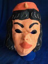 Vintage 1950s Muslin Flight Attendant Stewardess Halloween Costume Mask VG HTF