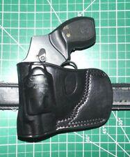 """Tagua Bsh-021 Lh Leather Belt Slide Holster Ruger Lcr S&W 2"""" J frame & Similar"""
