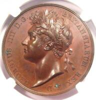 1821 Britain George IV Bronze Coronation Medal BHM-1070 - Certified NGC MS62 BN