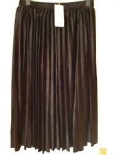 BNWT Derhy Women's Vaguemestre Velvet Pleated Skirt Size XL RRP £64.50