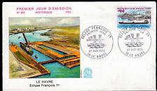 FRANCE FDC - 865 1772 2 ECLUSE FRANCOIS 1er DU HAVRE 27 10 1973