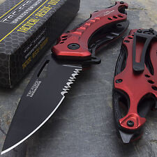 "8"" FIRE FIGHTER SPRING ASSISTED TACTICAL FOLDING KNIFE Blade Assist Pocket Open"