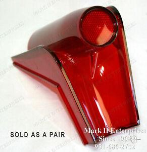 1958 58 Mercury Tail Light Lamp Lenses, Left & Right Pair NOS QUALITY FEW12351