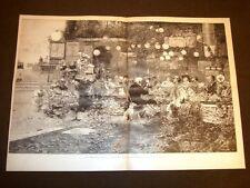 Incisione enorme del 1887 Vita moderna Quadro di Salvador Sanchez Barbudo