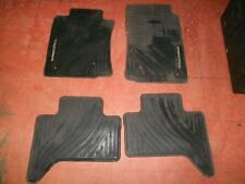 2012-2015 TACOMA FLOOR MATS RUBBER ALL WEATHER ACCESS CAB 4PC TOYOTA GENUINE OE