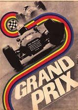 GRAND PRIX Amazing 22x32 Original Czech Poster YVES MONTAND MIFUNE JAMES GARNER
