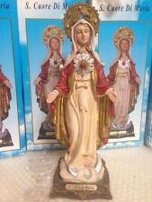 STATUA SANTISSIMO CUORE DI MARIA IN RESINA  30 CM RELIGIOSA