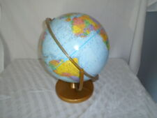 Vintage Mid-Century Replogle World Nation Series Globe - With Metal Stand - VGC