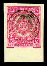 AFGHANISTAN 1927 15p Sc# 227 MH w/ Revolutionary Govt in Kabul control handstamp