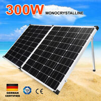 300W 12V Folding Solar Panel Kit Mono Cells 300Watt W/ Regulator Dual USB
