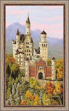 Cross Stitch Kit RIOLIS 1520 Neuschwanstein Castle 14 Count 30 Colors 35x 60 Cm