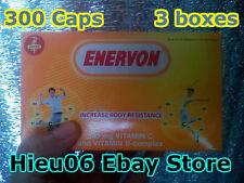 Lot 3 boxes 300 capsules Enervon increase body resistance vitamin tang de khang