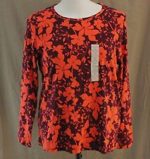 St. John��s Bay, 1X, Long Sleeve Crew Neck Floral Knit Top, New with Tags