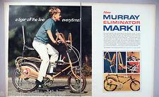 Murray Eliminator Chopper Bicycle 2-Pg PRINT AD -1969 ~sting ray bike, stringray