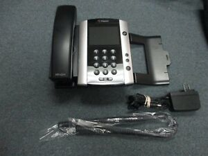 Polycom 2201-44500-001 VVX 500 POE VOIP IP Color Display Telephone W Stand #A